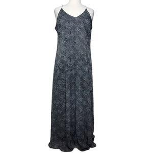 OLD NAVY Dress Maxi Sleeveless V Neck Triangle Dot